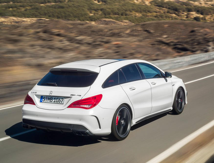 задние фонари Mercedes CLA45 AMG Shooting Brake 2016