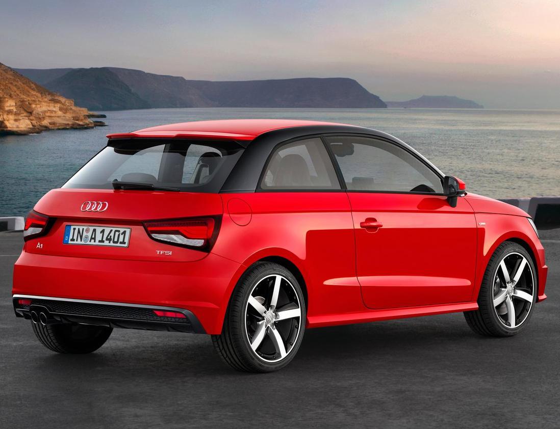 задняя часть Audi A1 2015