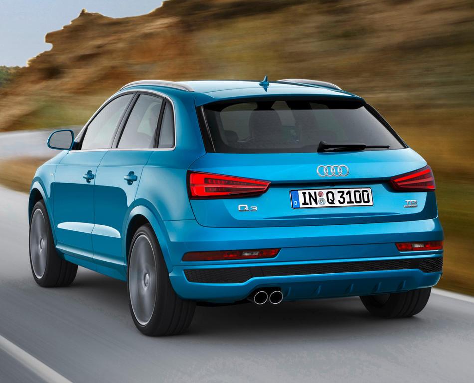 задняя часть Audi Q3 2015 года