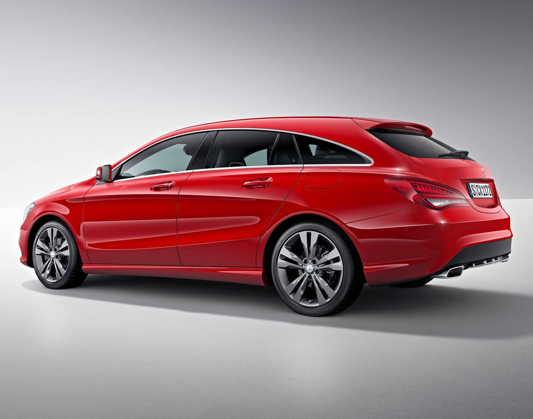 задняя часть Mercedes CLA-Class Shooting Brake 2016