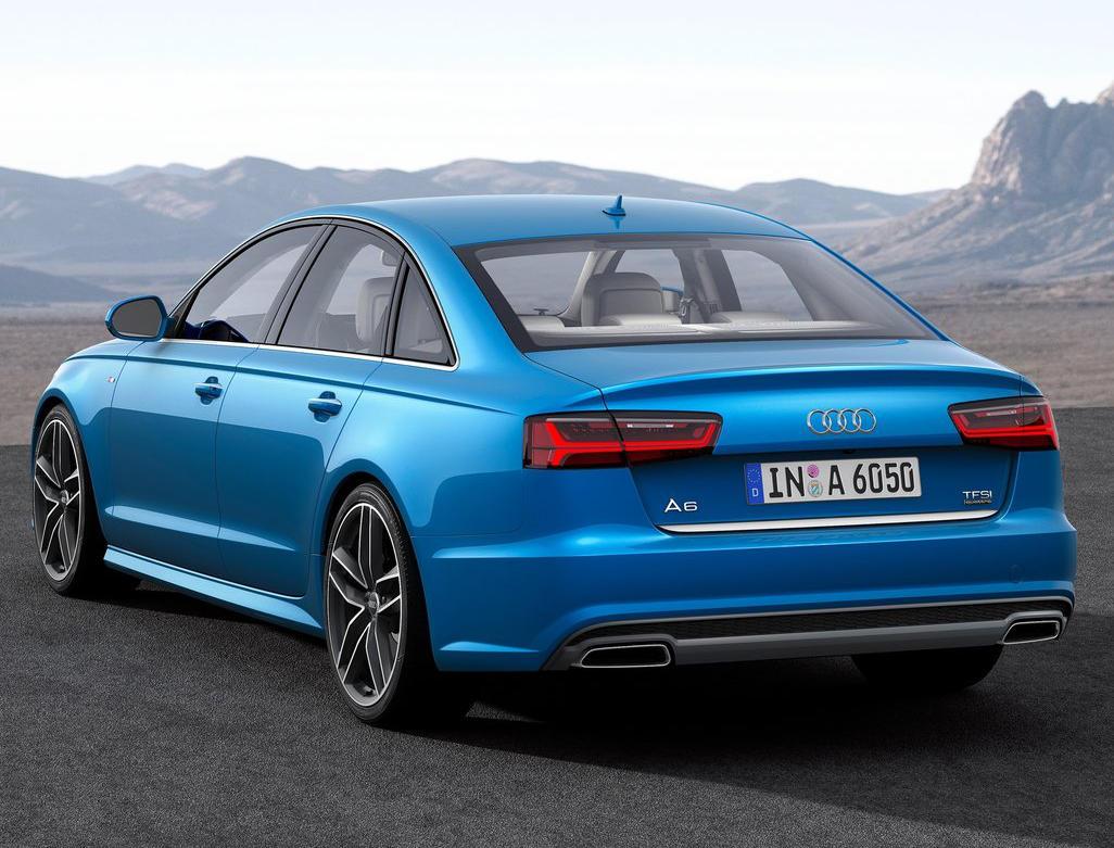 задняя часть Audi A6 2015