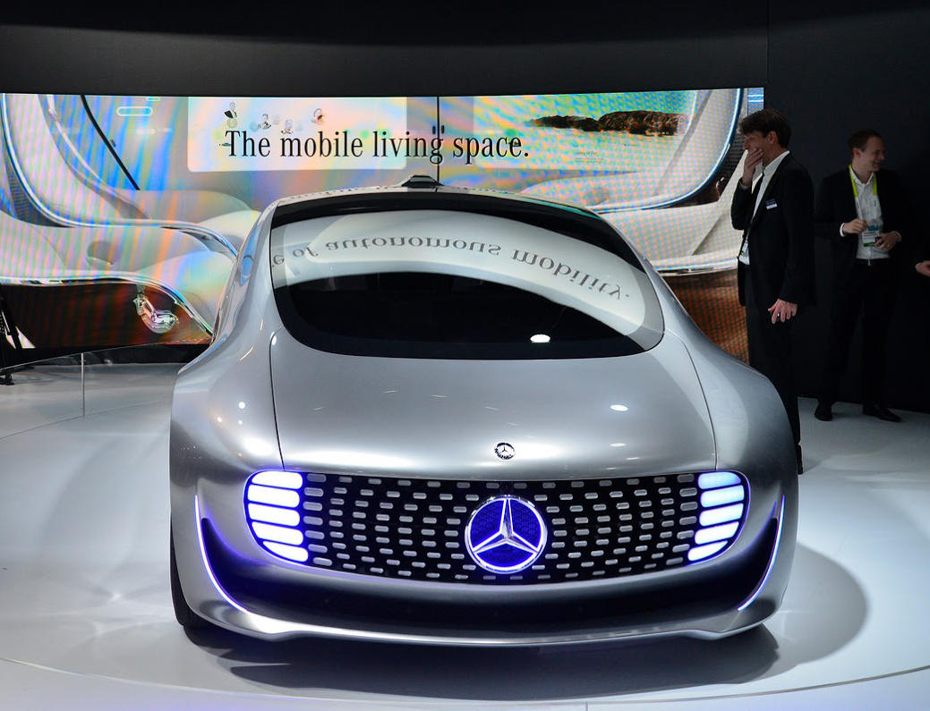 бампер и фары Mercedes F015 Luxury in Motion