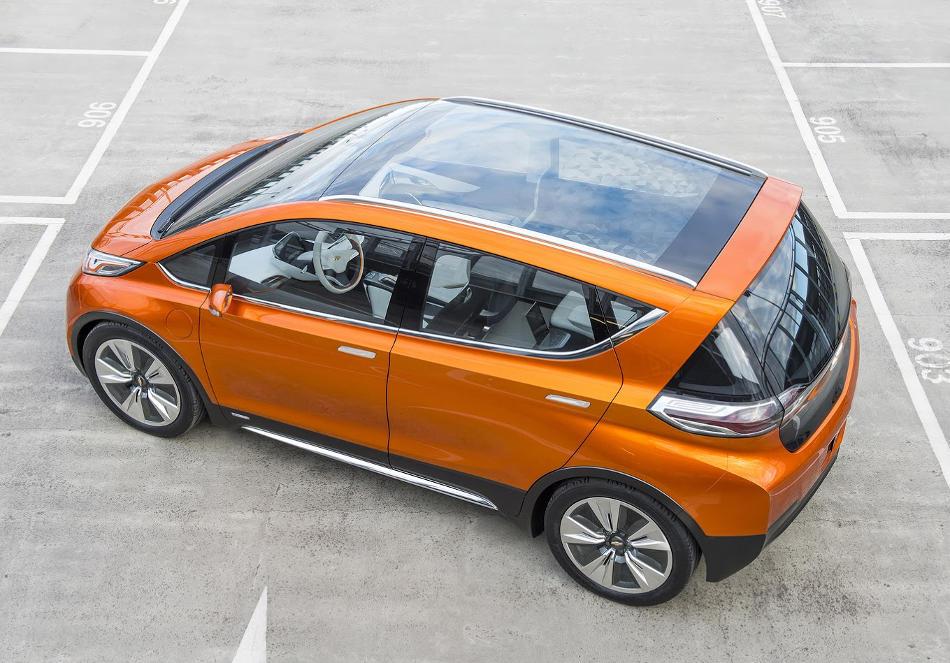электромобиль Chevrolet Bolt EV 2015 сверху