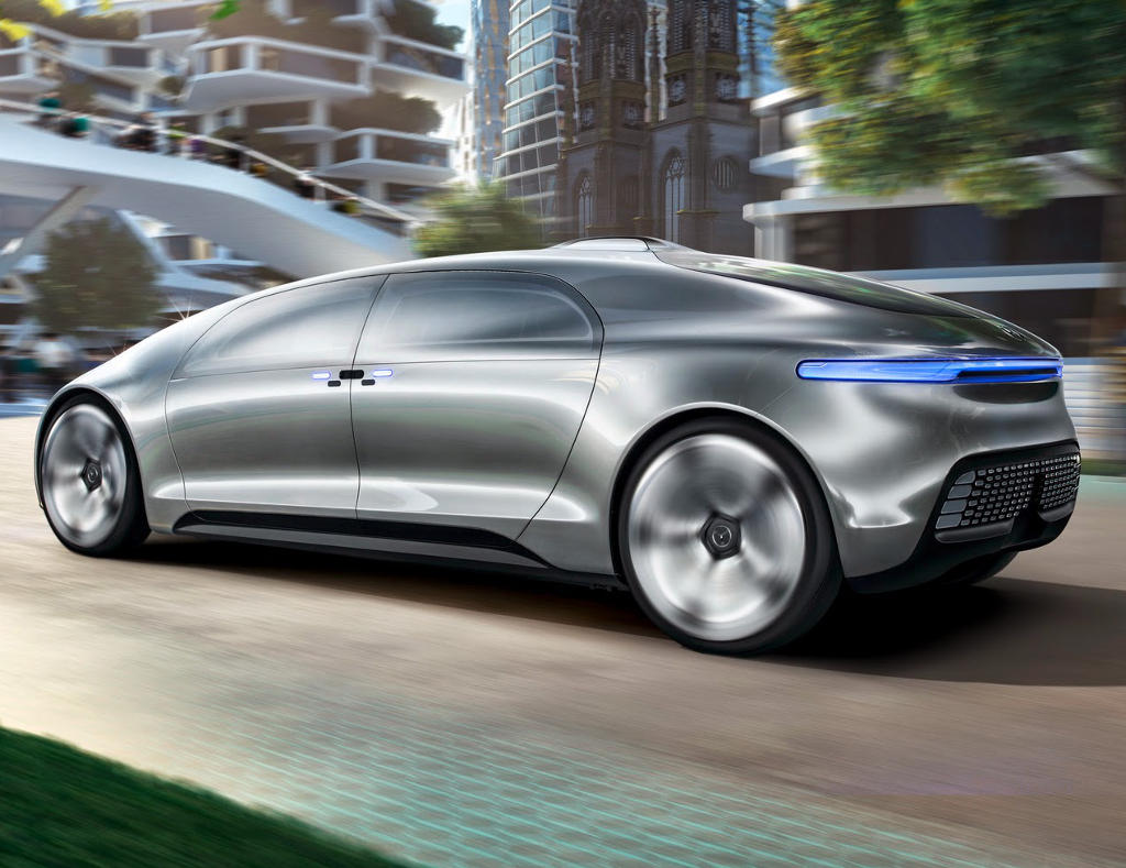 задняя часть Mercedes F015 Luxury in Motion