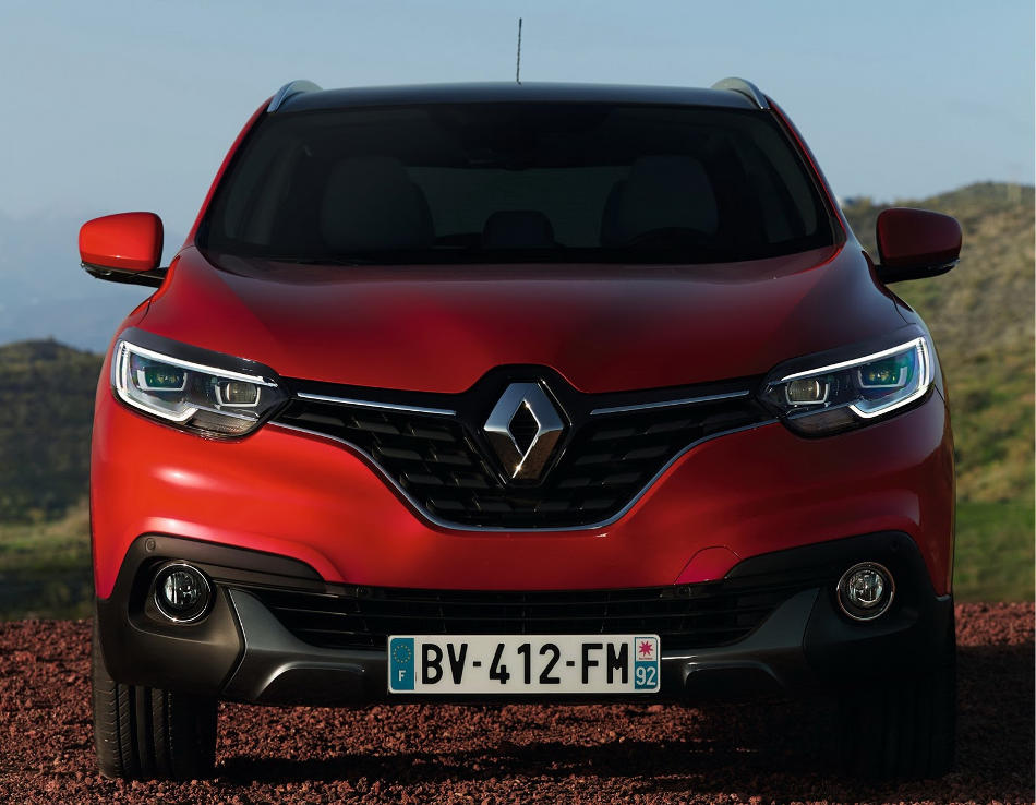 фары и бампер Renault Kadjar 2016