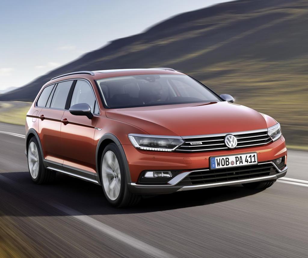 фары и бампер Volkswagen Passat Alltrack 2016