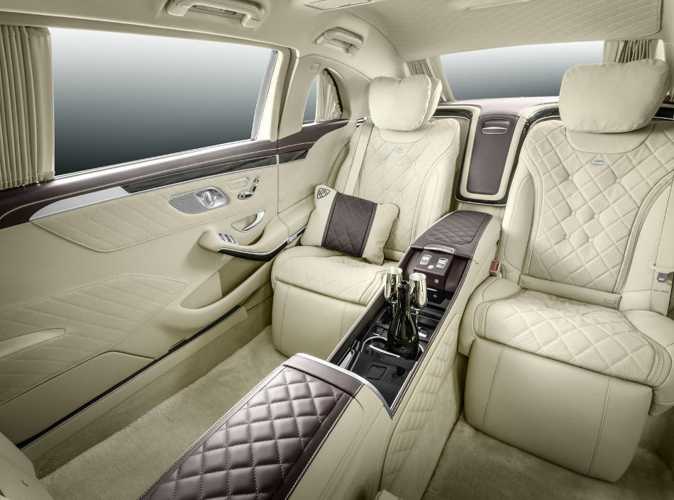 интерьер Mercedes S600 Pullman Maybach 2016