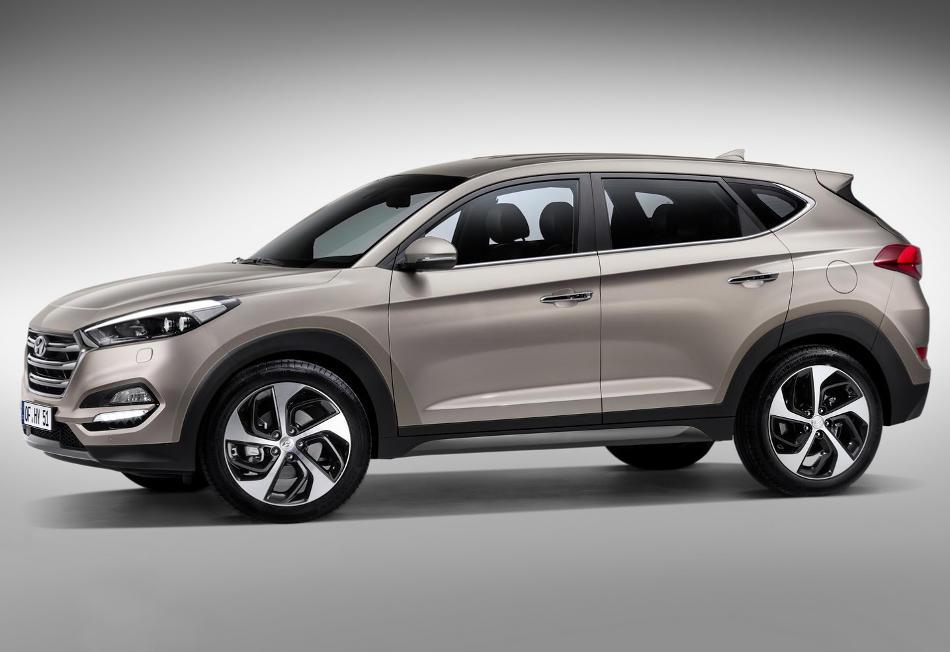 новый Hyundai Tucson 2016 сбоку