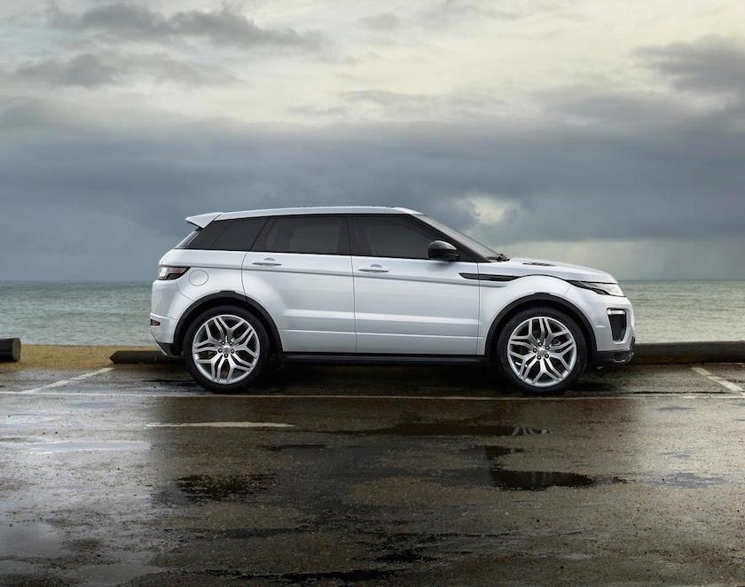новый Range Rover Evoque 2016 сбоку