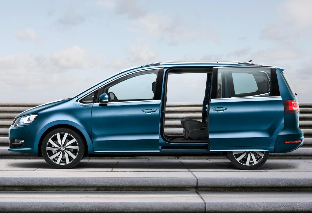 новый Volkswagen Sharan 2016 сбоку
