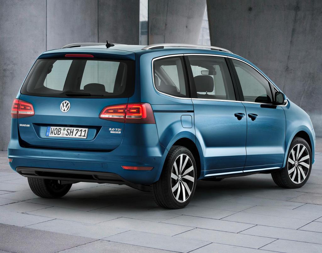 задние фонари Volkswagen Sharan 2016
