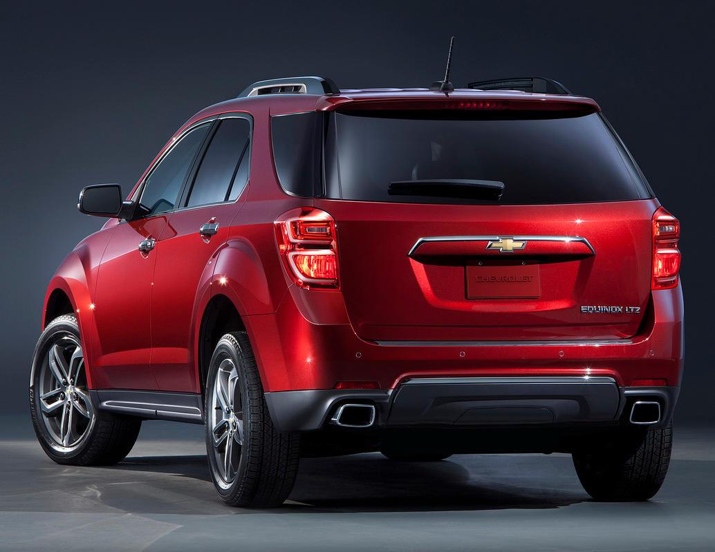 задняя часть Chevrolet Equinox 2016