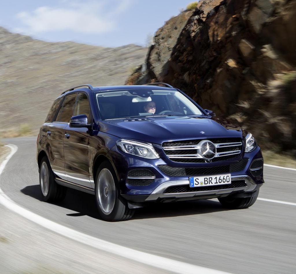 фары и бампер Mercedes GLE 2016