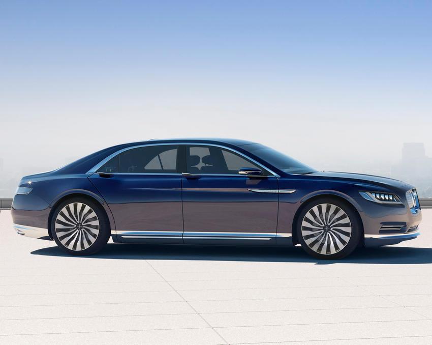 прототип Lincoln Continental 2015 сбоку