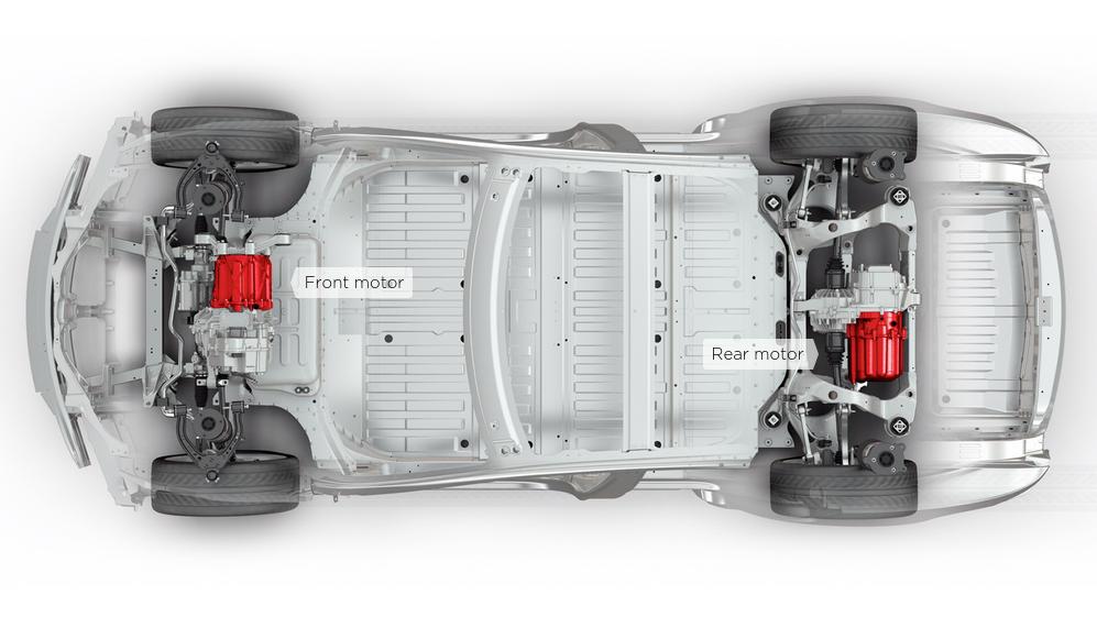 электромоторы Tesla Model S 70D