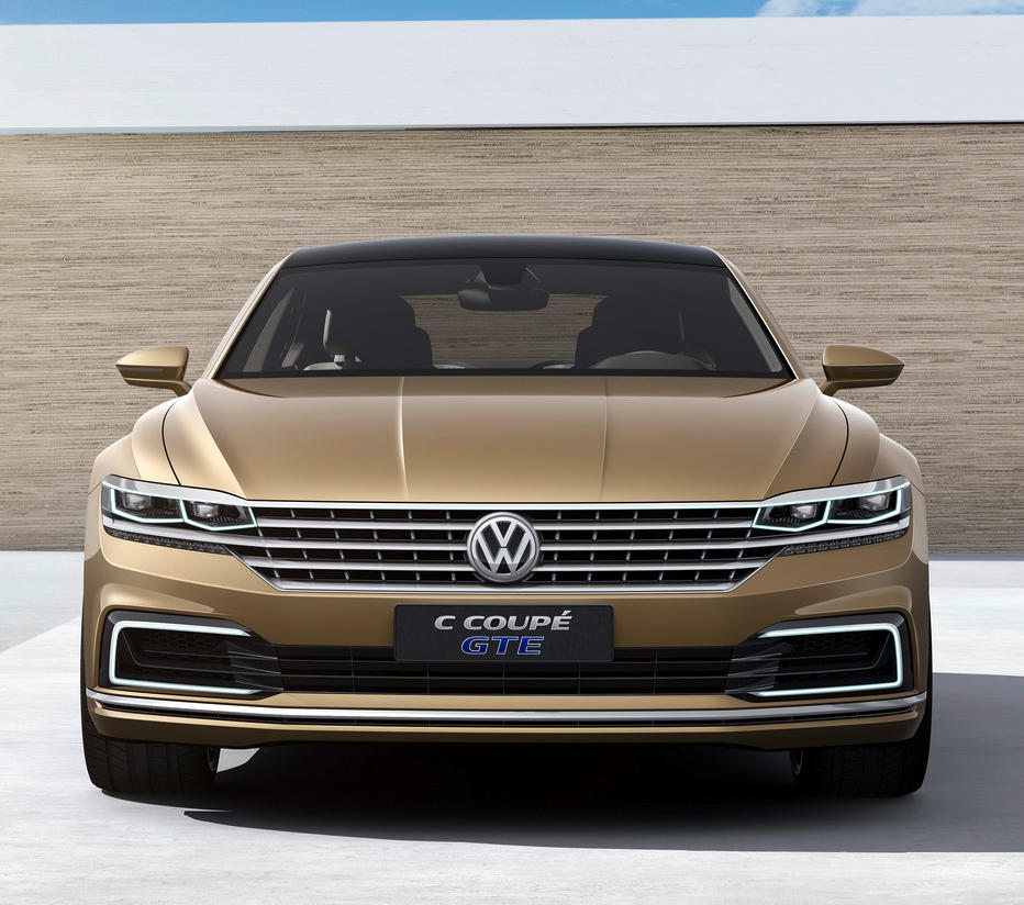 фары и бампер Volkswagen C Coupe GTE Concept 2015
