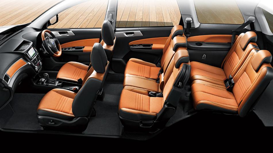интерьер Subaru Exiga Crossover 7
