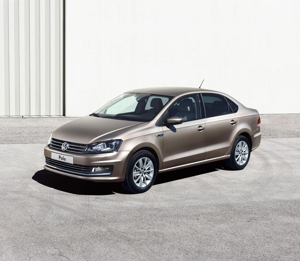 новый Volkswagen Polo Седан 2015-2016 сбоку