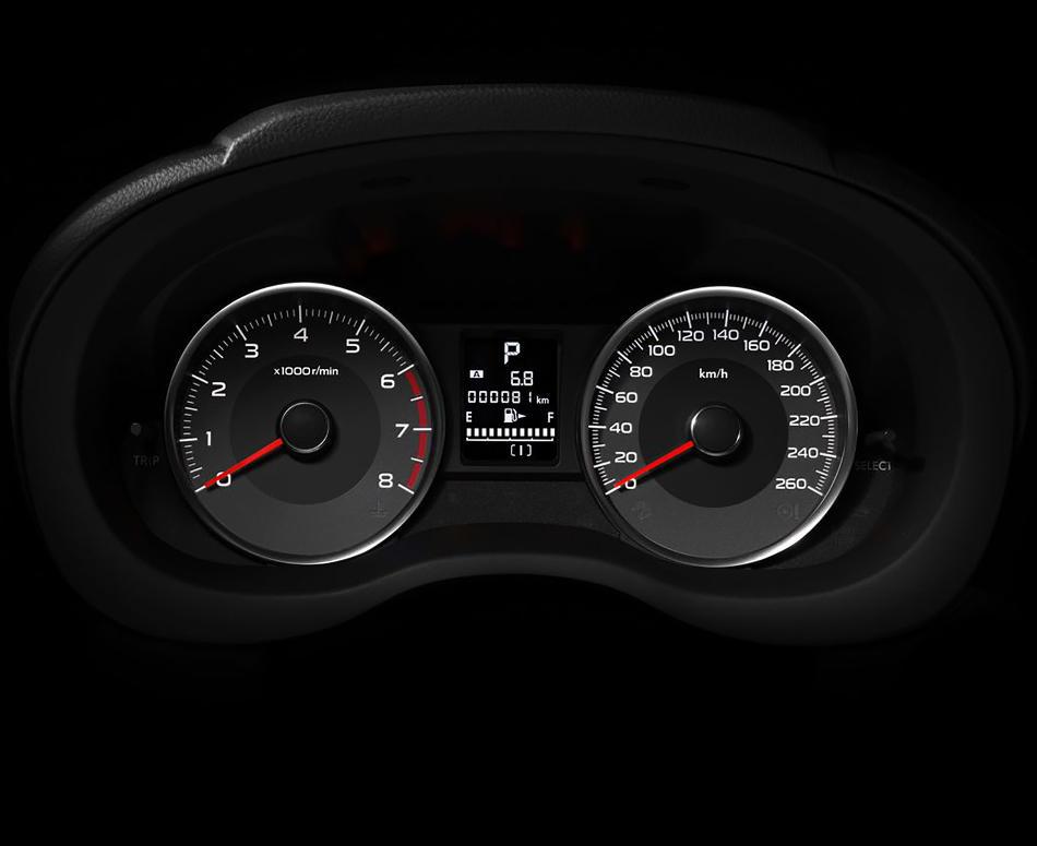 панель приборов Subaru Forester 2015