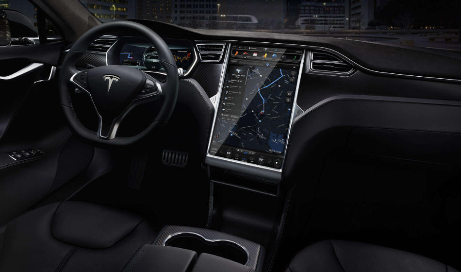 салон Tesla Model S 70D