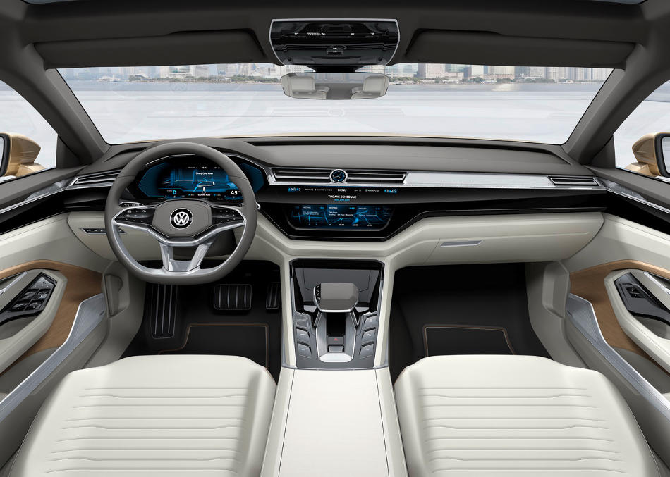 салон Volkswagen C Coupe GTE Concept 2015