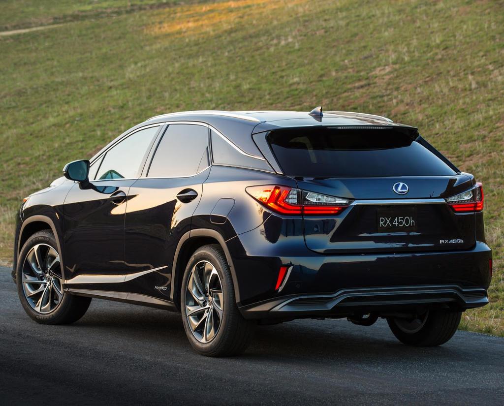 задняя часть Lexus RX 2017 – 2018
