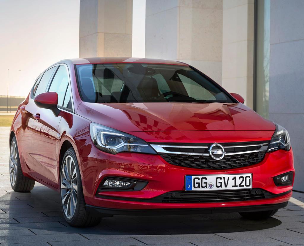 бампер и фары Opel Astra хетчбэк 2016