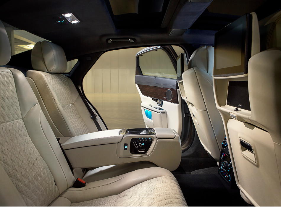интерьер Jaguar XJ 2016