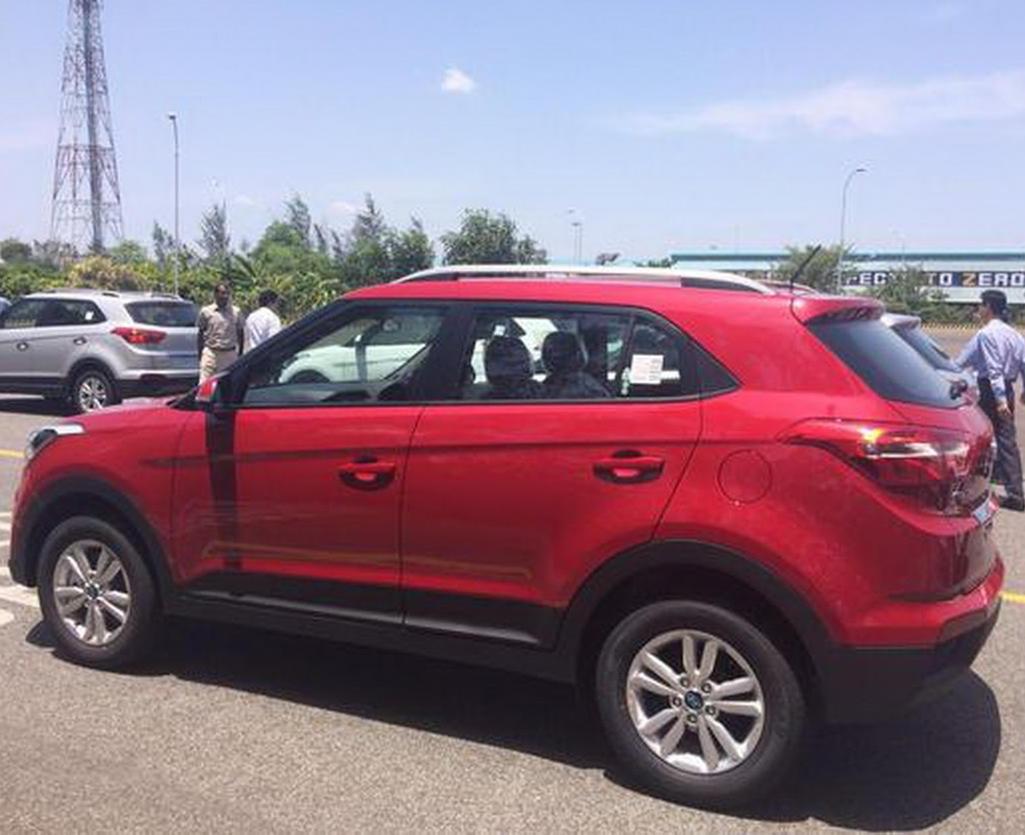 новая Hyundai Creta 2016 сбоку