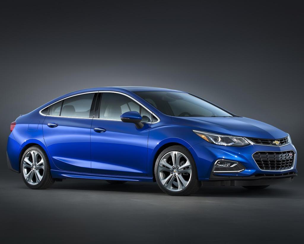 новый Chevrolet Cruze 2016 сбоку