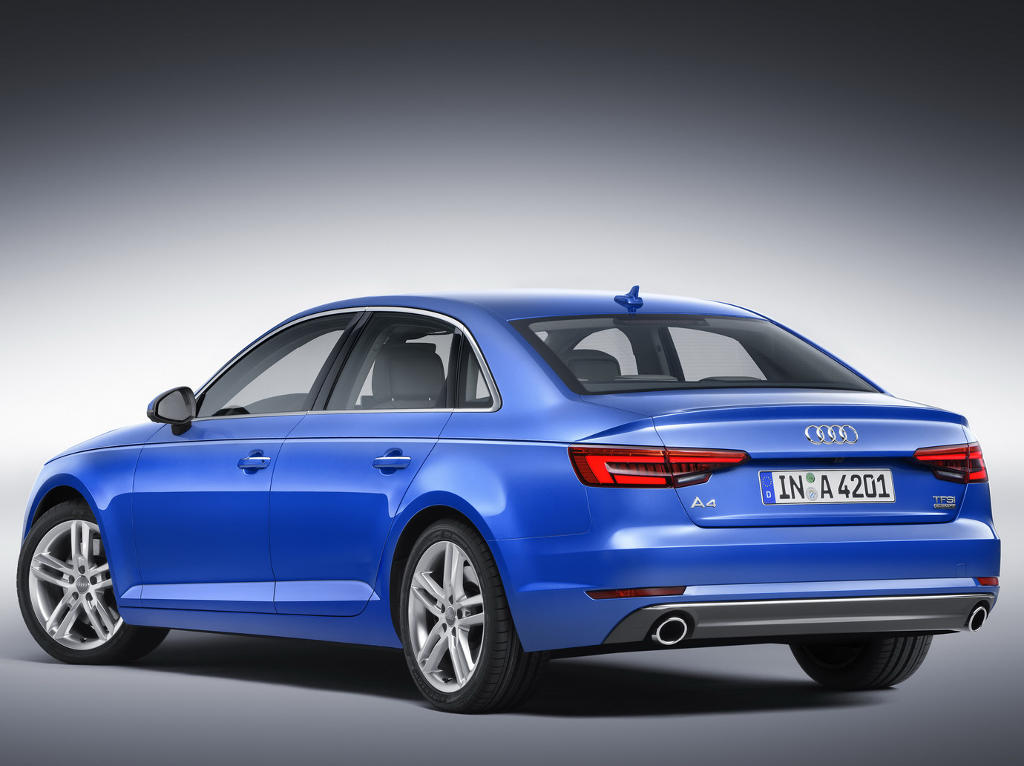 седан Audi A4 (B9) 2016 задняя часть