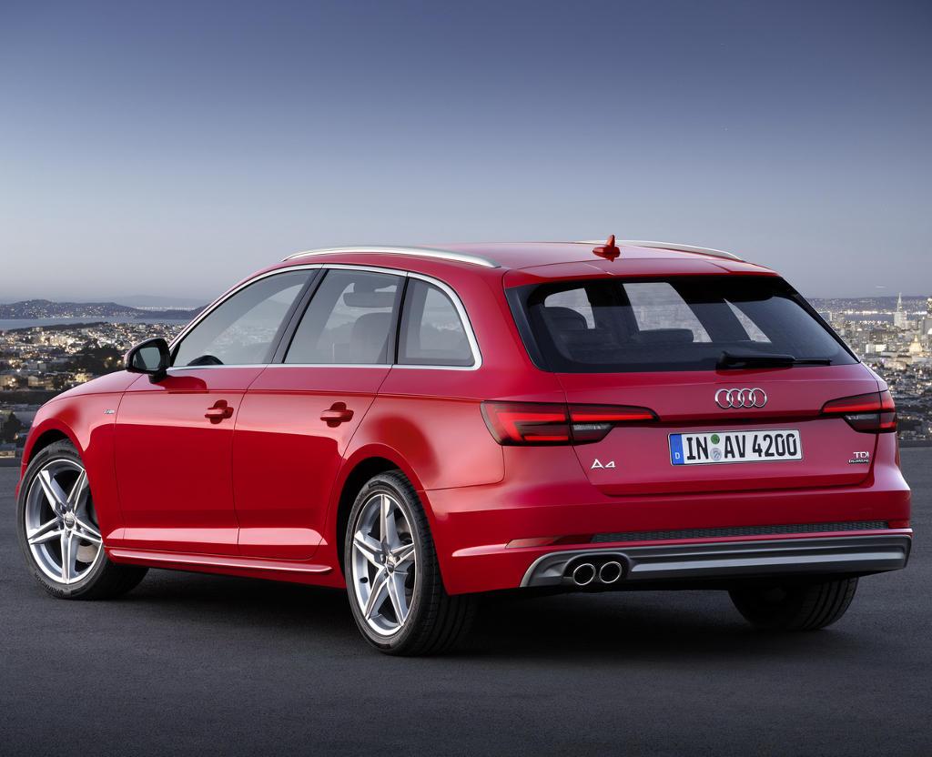 задние фонари универсала Audi A4 Avant (B9) 2016