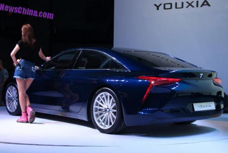 задняя часть электромобиля Youxia X