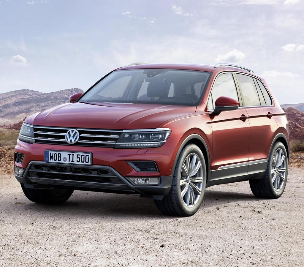 бампер, фары, решетка Volkswagen Tiguan 2016