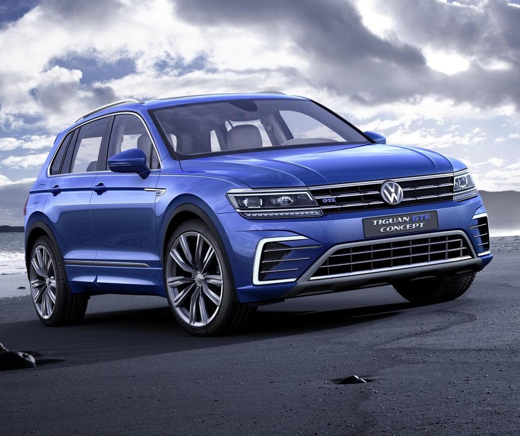 бампер, фары, решетка Volkswagen Tiguan GTE Concept