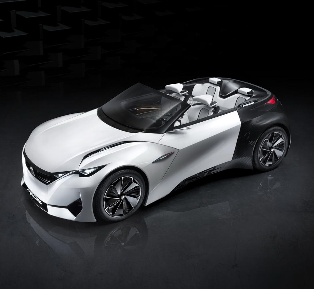 прототип Peugeot Fractal сбоку