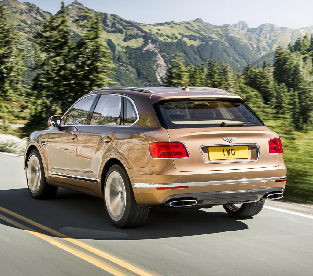 задняя часть Bentley Bentayga