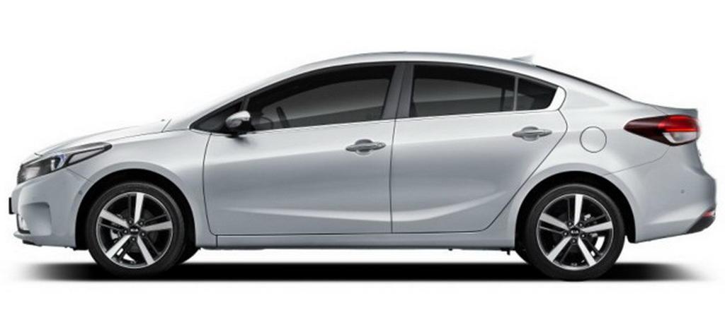 новый Kia Cerato 2016 сбоку