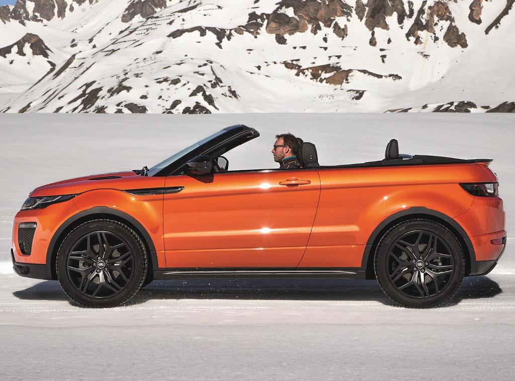 новый Range Rover Evoque Convertible 2016 сбоку