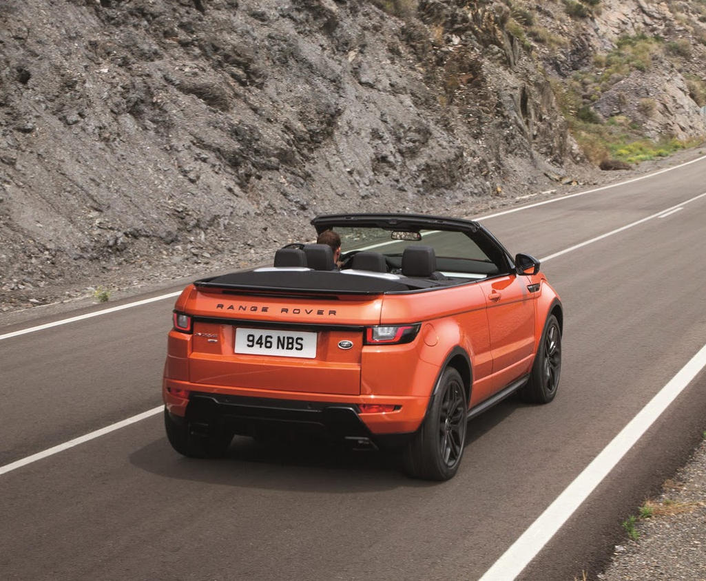 задняя часть Range Rover Evoque Convertible 2016