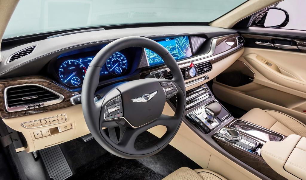 интерьер Hyundai Genesis G90 2016