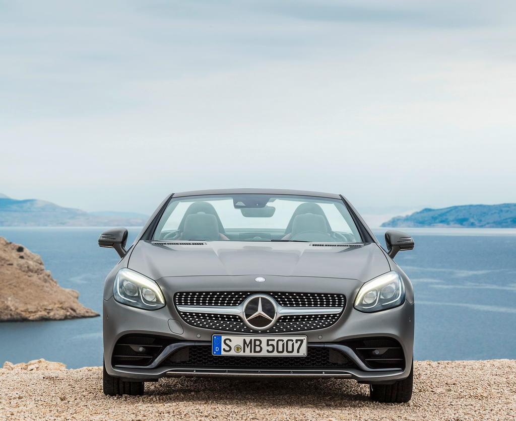 решетка, фары, бампер Mercedes SLC 2016 – 2017