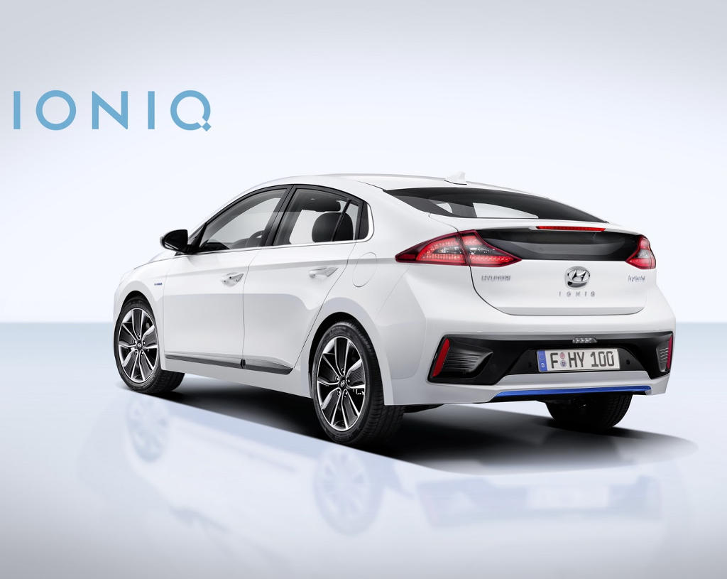задняя часть Hyundai Ioniq