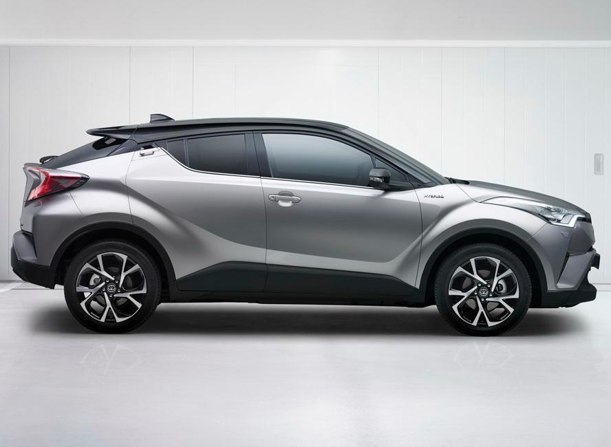 новый Toyota C-HR 2016–2017 сбоку