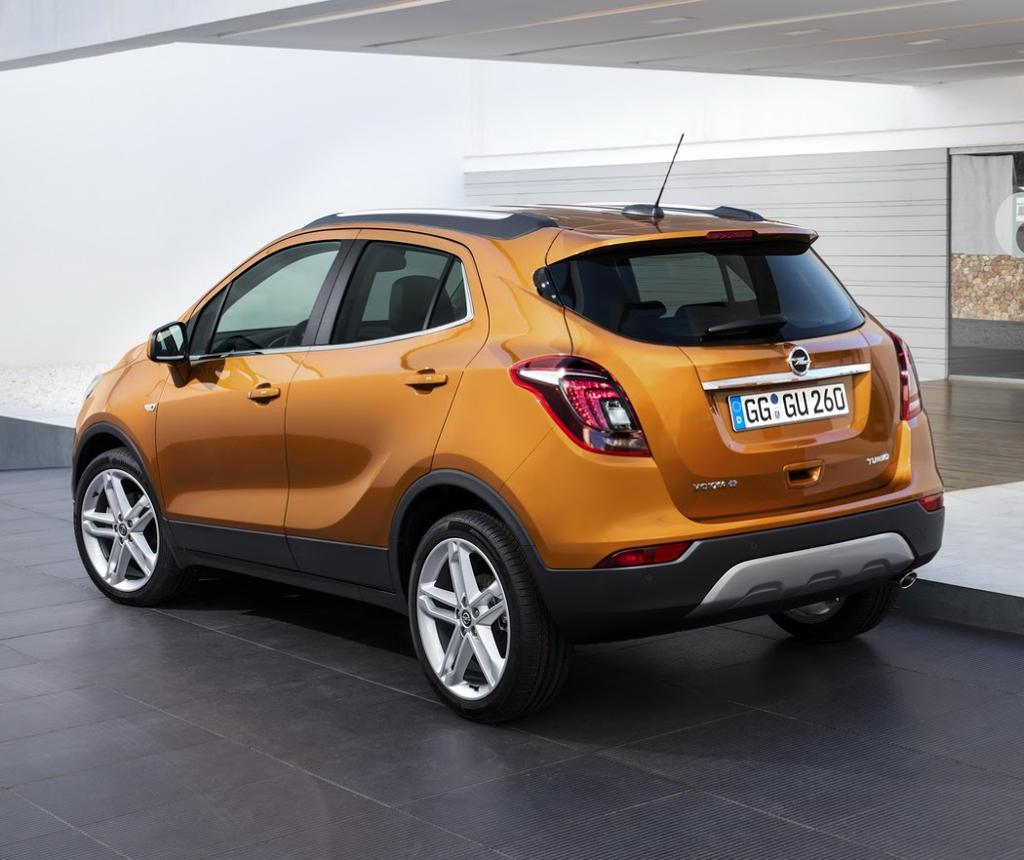 задняя часть Opel Mokka X 2016