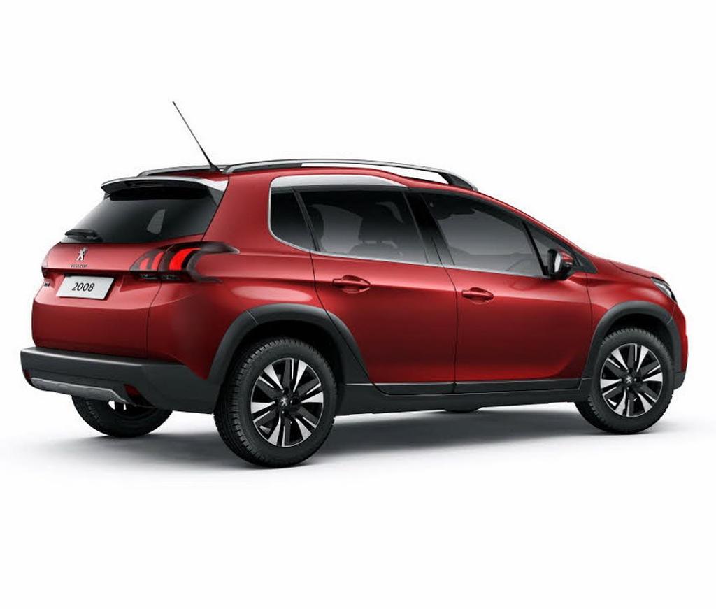 задняя часть Peugeot 2008 2016–2017