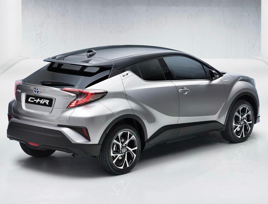 задняя часть Toyota C-HR 2016–2017