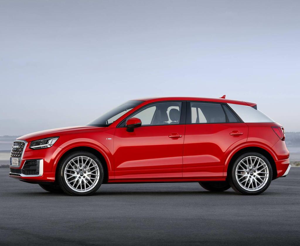 новый Audi Q2 2016–2017 сбоку