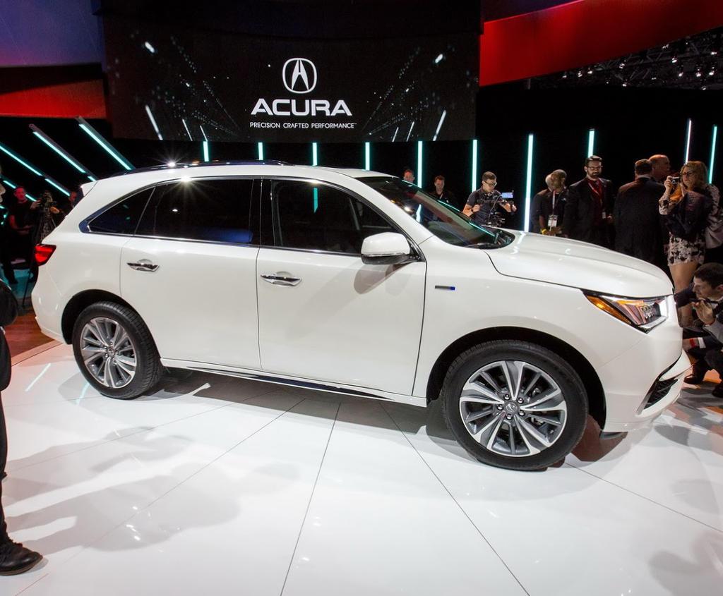 рестайлинг Acura MDX 2017 сбоку