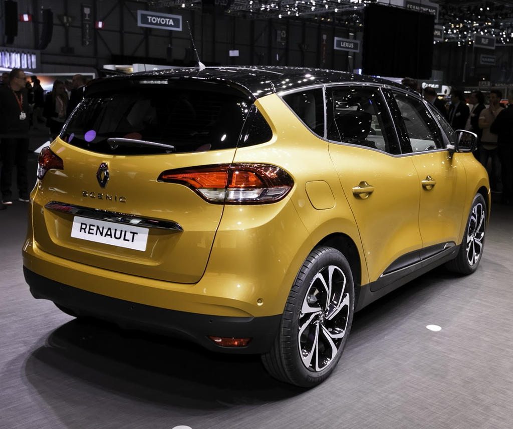 задняя часть Renault Scenic 2016–2017